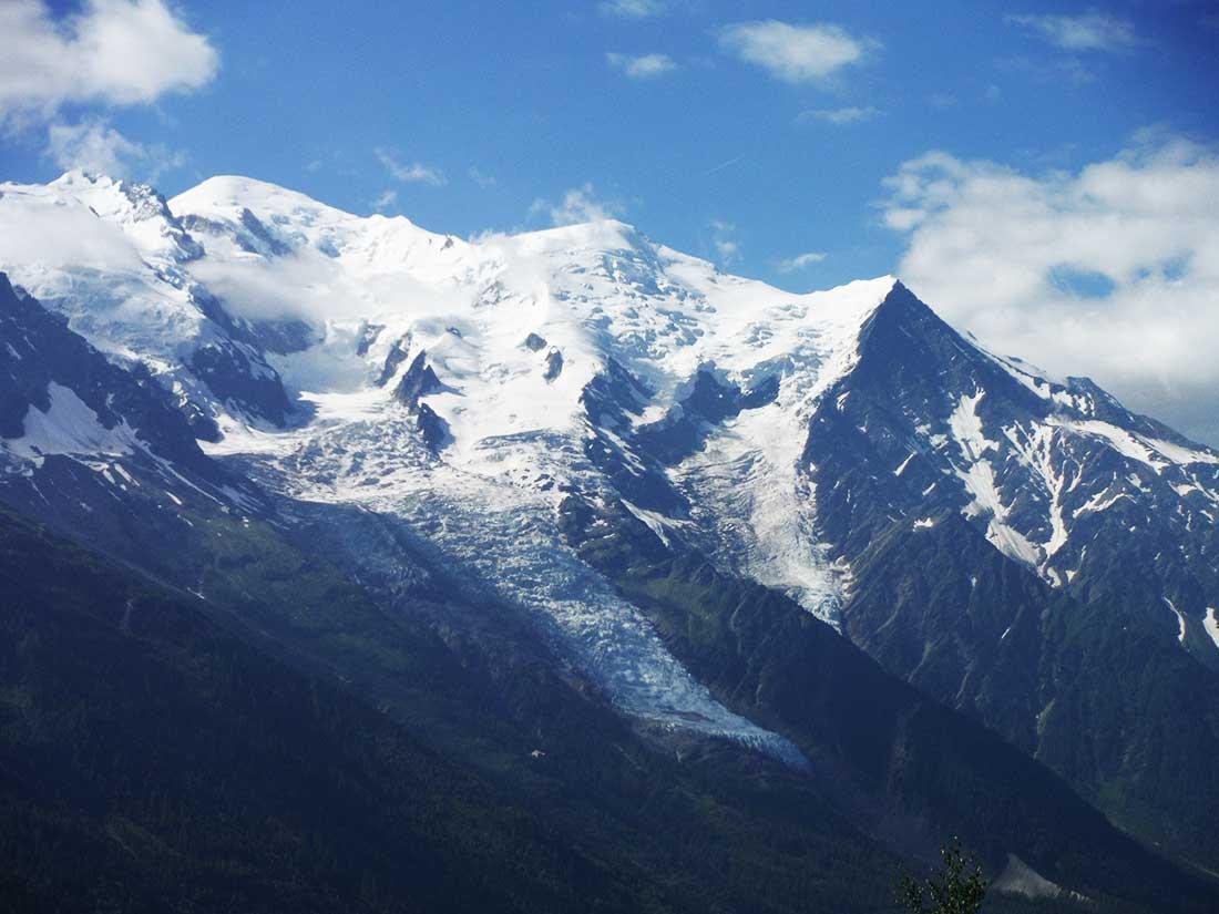 La ruta de la Aguille de Goûter es la más frecuentada por montañistas y guías en el Mont Blanc.
