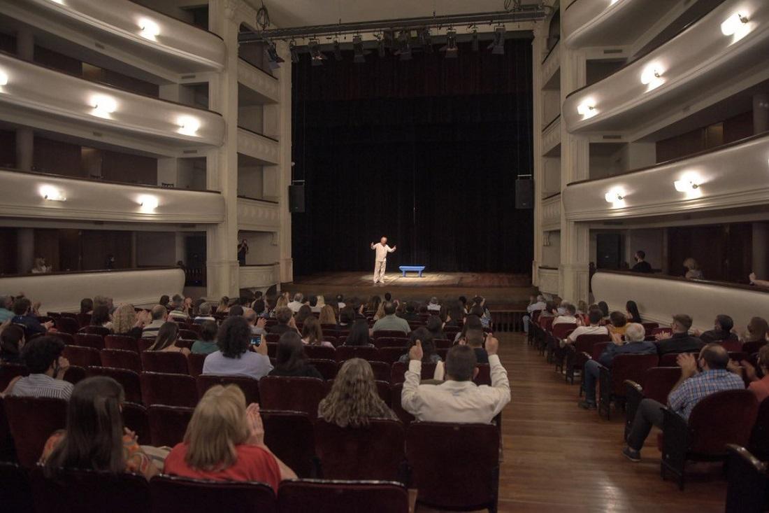Reapertura del teatro Independencia, en la ciudad de Mendoza, con todos los protocolos.