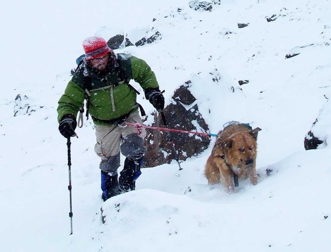 Nacho y Oro en la montaña, en la nieve, eran uno.