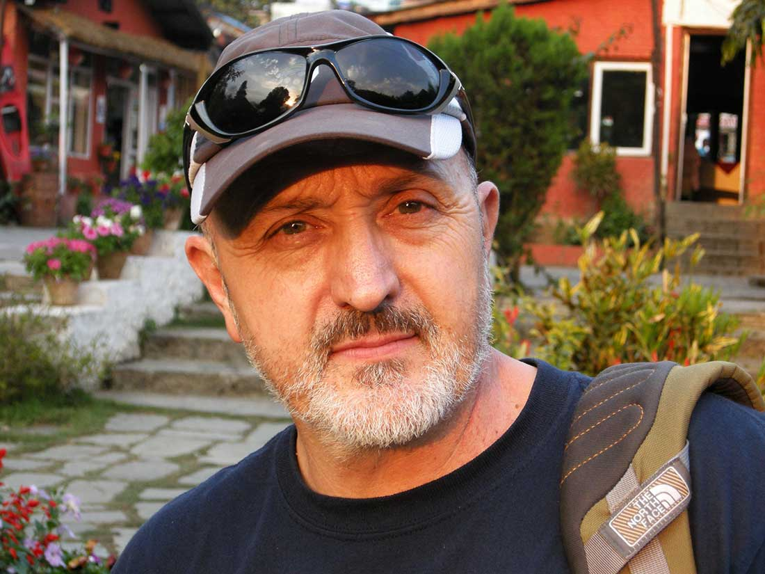 El escritor español Sebastián Álvaro es un referente del mundo del alpinismo.