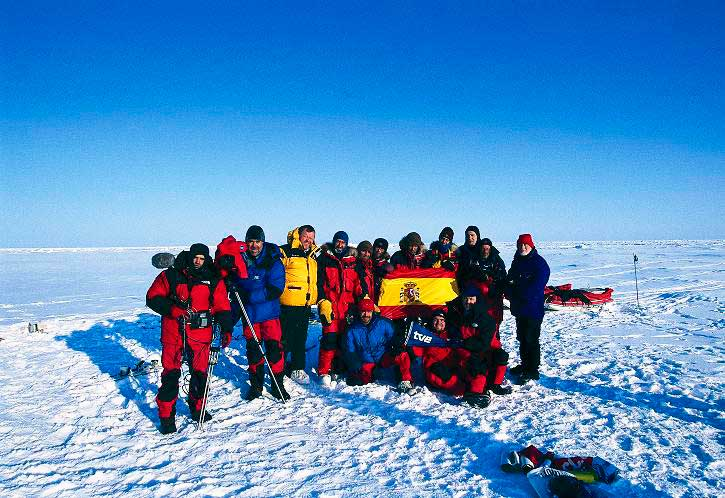En el mismísimo Polo Norte con el equipo de TVE de Al Filo de lo Imposible.