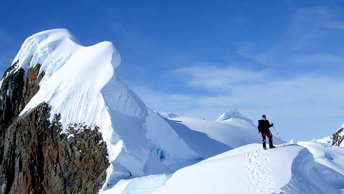 En los confines australes, monte Scott, península de Kiev, Antártida.