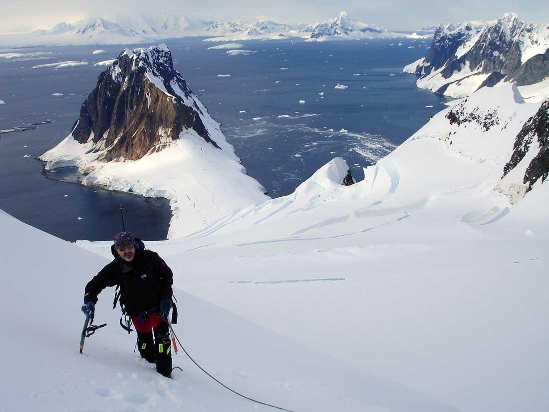 En el monte Wandel, isla Booth, continente antártico.