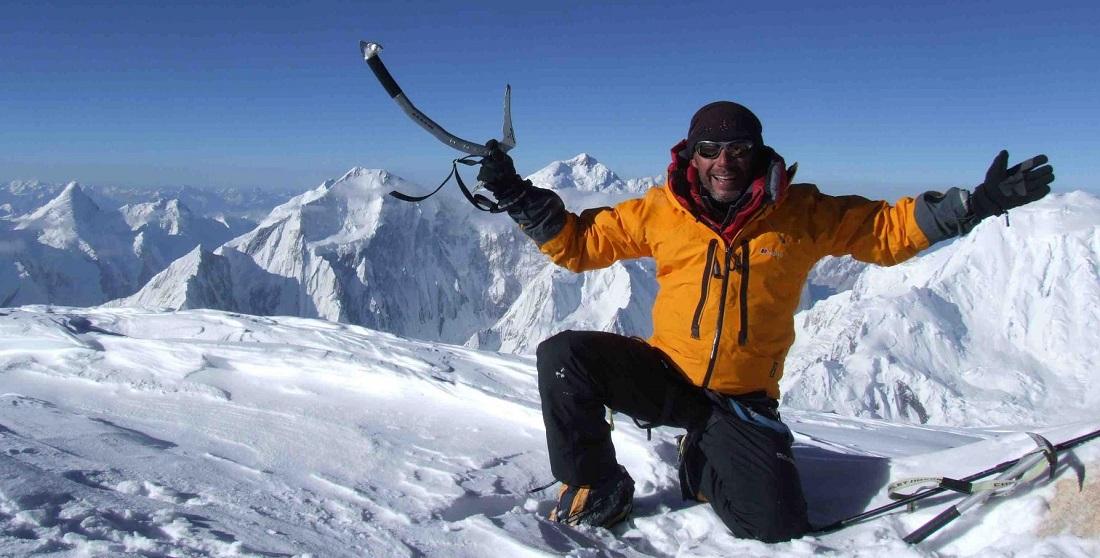 Javier Campos en una de sus incursiones en Pakistan, en el Spantik, de 7.027 metros.