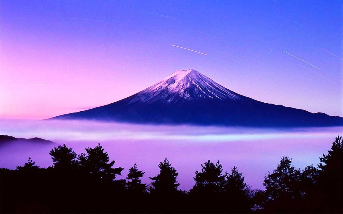 El monte Fuji, con su estético perfil, es el emblema del país del sol naciente. (Ph All About Japan)