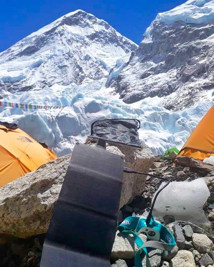 SOLAR 7 se utilizó con temperaturas de -20° C, como en el monte Everest.