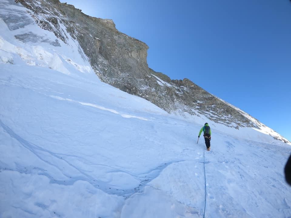 Ascenso cara Norte del monte Cervino. Foto: Cazanelli-Della Bordella-Ratti.