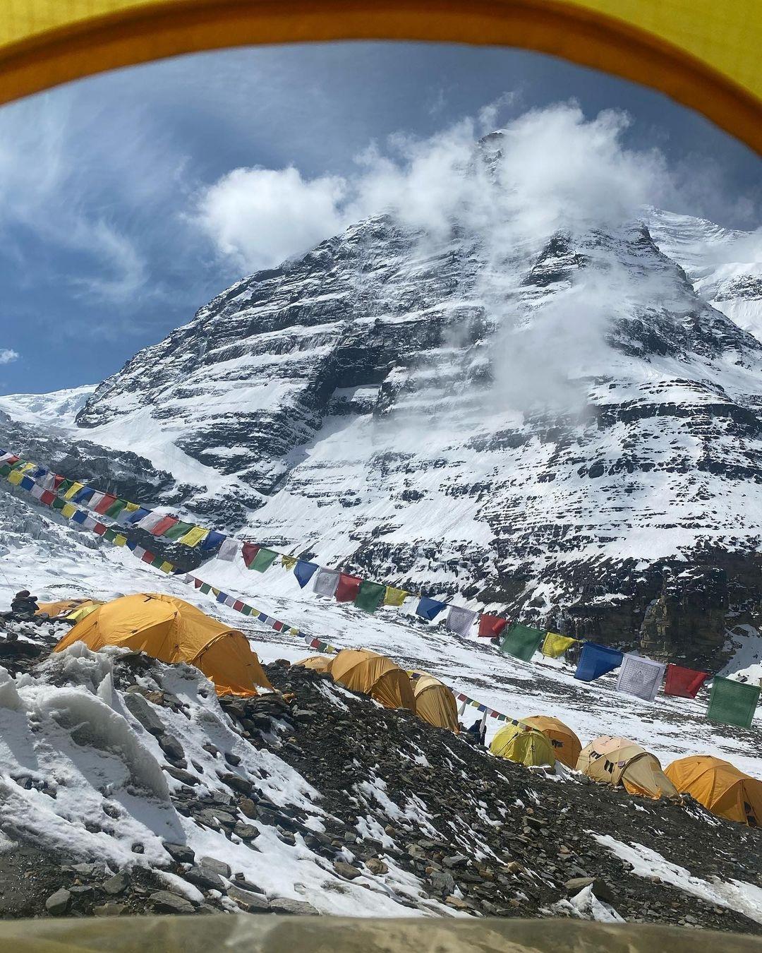 Muchos casos de Covid en los campos base de Dhaulagiri y Everest. (Ph Dhaulagiri, Viridiana Álvarez)