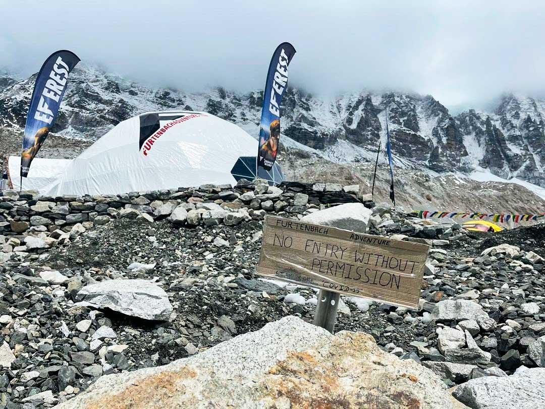 El aislamiento dentro del propio campamento fue una de las premisas para algunas expediciones. (Ph IG @furtenbachadventures)