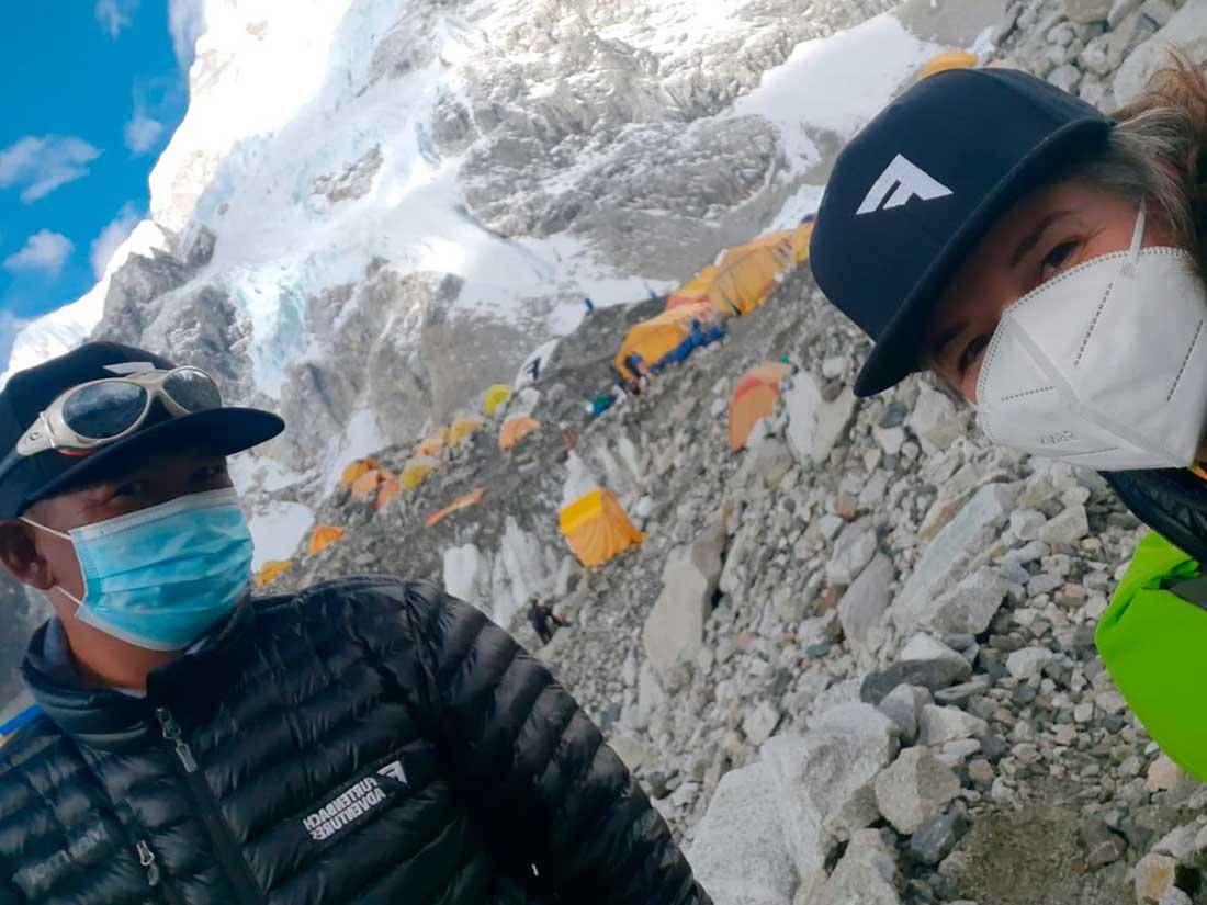 Su primera temporada en Everest fue totalmente atípica, a raíz de la pandemia.
