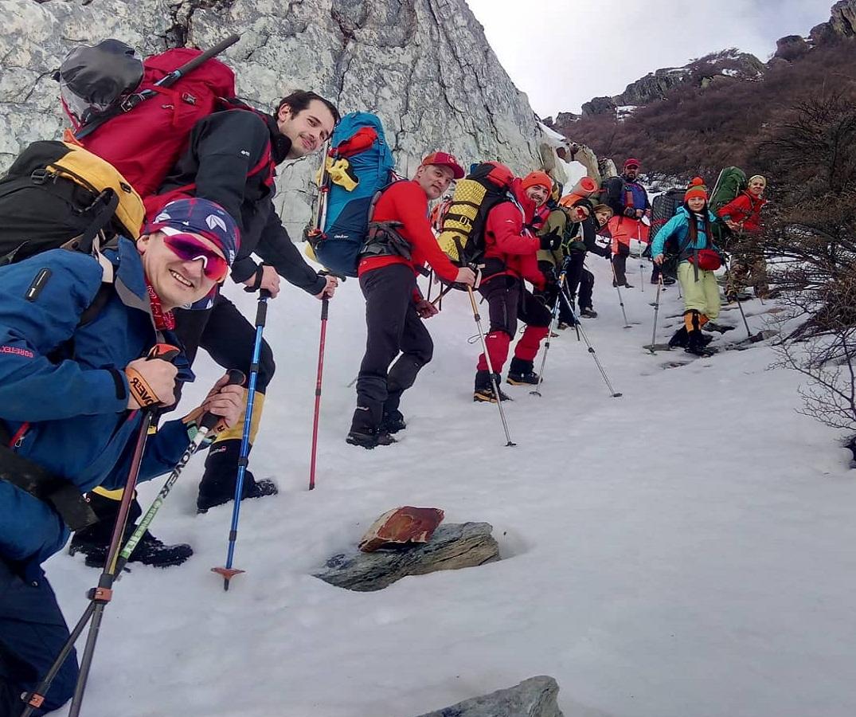 El terreno de nieve y glaciares de Ushuaia es ideal para el entrenamiento.