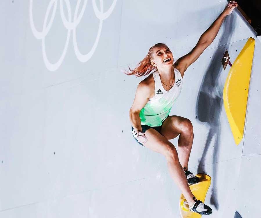 Janja Garnbret ganó la medalla de Oro en escalad femenina en los Juego Tokyo 2020. (Ph Pool via AFP)